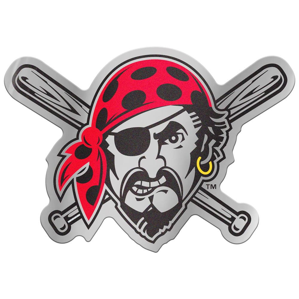 "Pittsburgh Pirates WinCraft 5"" x 2.5"" Auto Emblem Decal - No Size"