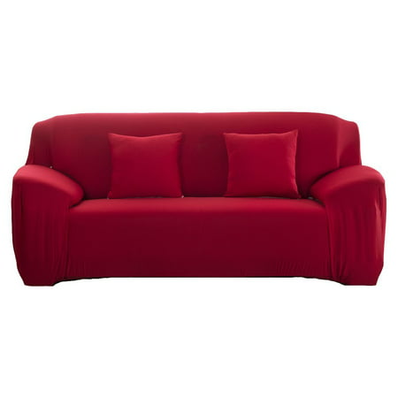 Elastic Couch Covers,Solid Color Stylish Sofa Slipcover 1- 4 Seat Soft  Lightweight Slip Resistant Sofa Furniture Protector Cover(2Seat=57\