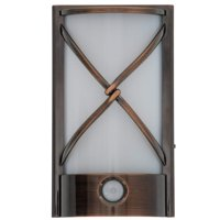 Capstone Motion Activated LED Plugin Night Light – With Automatic Dusk to Dawn Sensor Feature, Decorative Sconce Lights Up Your Home – Covers Unused Outlet Plugs