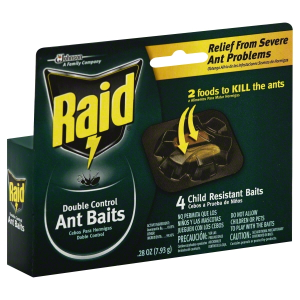 Raid Double Control Ant Baits, 4 count