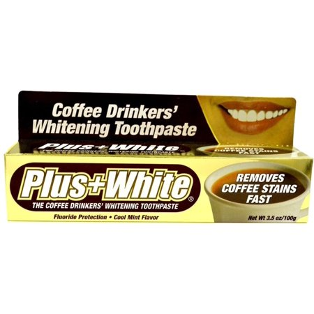 Plus White Coffee Drinkers' Whitening Toothpaste 3.50 oz (Pack of 2) Coffee Drinkers Whitening Toothpaste