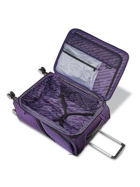 "American Tourister Zoom Turbo 25""Checked-Medium Dual Spinner, Purple"