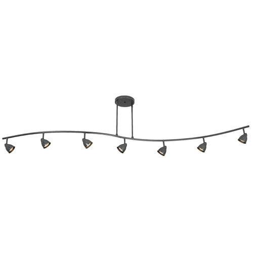 Cal Lighting Serpentine 7 Light Full Track Lighting Kit with Swirl Glass