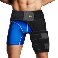 OTVIAP Adult Groin Support Brace Thigh Compression Sleeve Hip Support Wrap Hamstring Hip Injury Leg Waist Support Sleeve for Men & Women