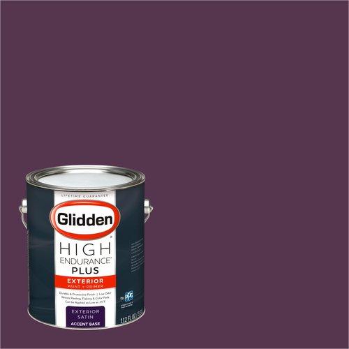 Glidden High Endurance Plus Exterior Paint and Primer, Deep Plum, #12RR 07/229