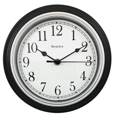 Westclox 8 5 Quot Round Wall Clock Black 46991a Walmart Com