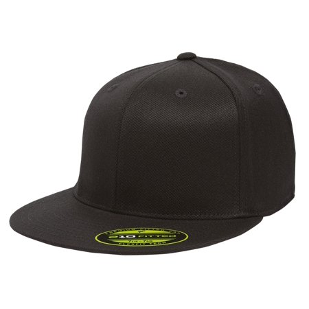 84614ea80 The Hat Pros Blank Flexfit 6210 Premium Fitted 210 Cap Youth - Black