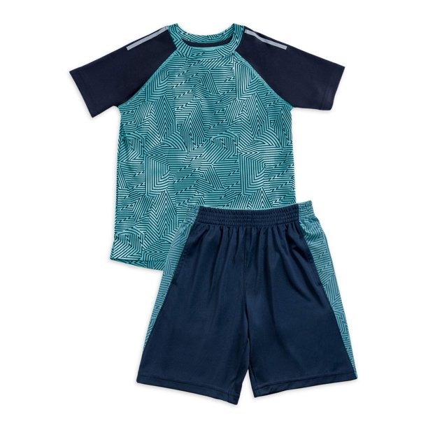 Athletic Works Baby Toddler Boy Active T-shirt & Shorts, 2pc Outfit Set