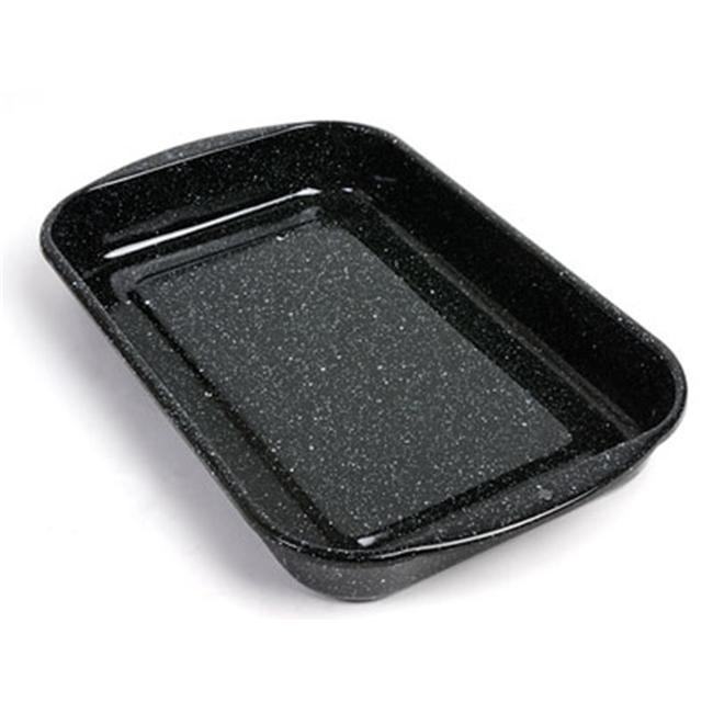 American Educational 7-351-1 Dissecting Pan - Black Enamel Without Wax - 15.75 x 9.75 x 2