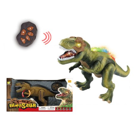 How Big Was T Rex (Remote Control RC T Rex Dinosaur Electronic Toy Action Figure Walking & Moving(COLOR MAY)