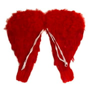 """Star Power Girls Genuine Feather Beautiful Wings, Red, 18"""""""