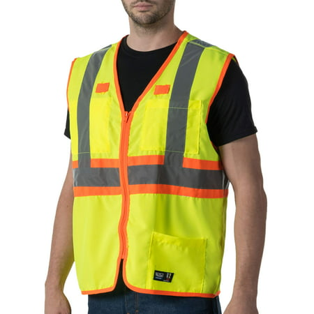 e0a7f331e324a Walls - Men's Premium ANSI 2 High Visibility Safety Vest - Walmart.com