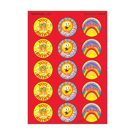 Sun & Fun Stinky Stickers (T-6419), Scratch 'em and sniff 'em for a burst of fragrance! acid-free, non-toxic, and safe for use on photos By Trend Enterprises - Scratch And Sniff Stickers