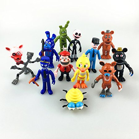 Fnaf Five Nights at Freddy's Action Figures Toys Dolls 12PCS/Set, 4 INCHES HT (Fnaf 4 Halloween Update Trailer)