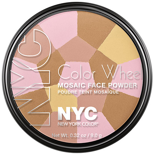 NYC New York Color Color Wheel Mosaic Face Powder, 726 Bronzed Pink, 0.32 oz