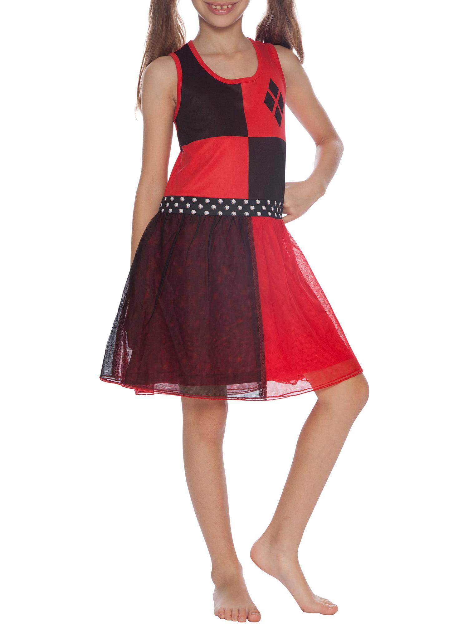 Girl's Harley Quinn 2 Piece Costume Pajama Gown (Big Girls & Little Girls)