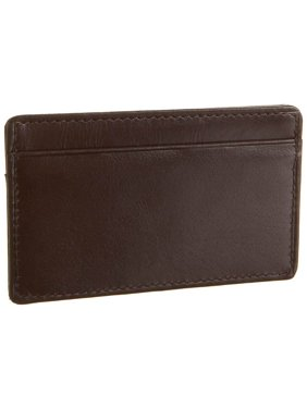 Product Image Card Holder Leather Wallet in Dark Brown (Antique Tan) b93396d1bf60c