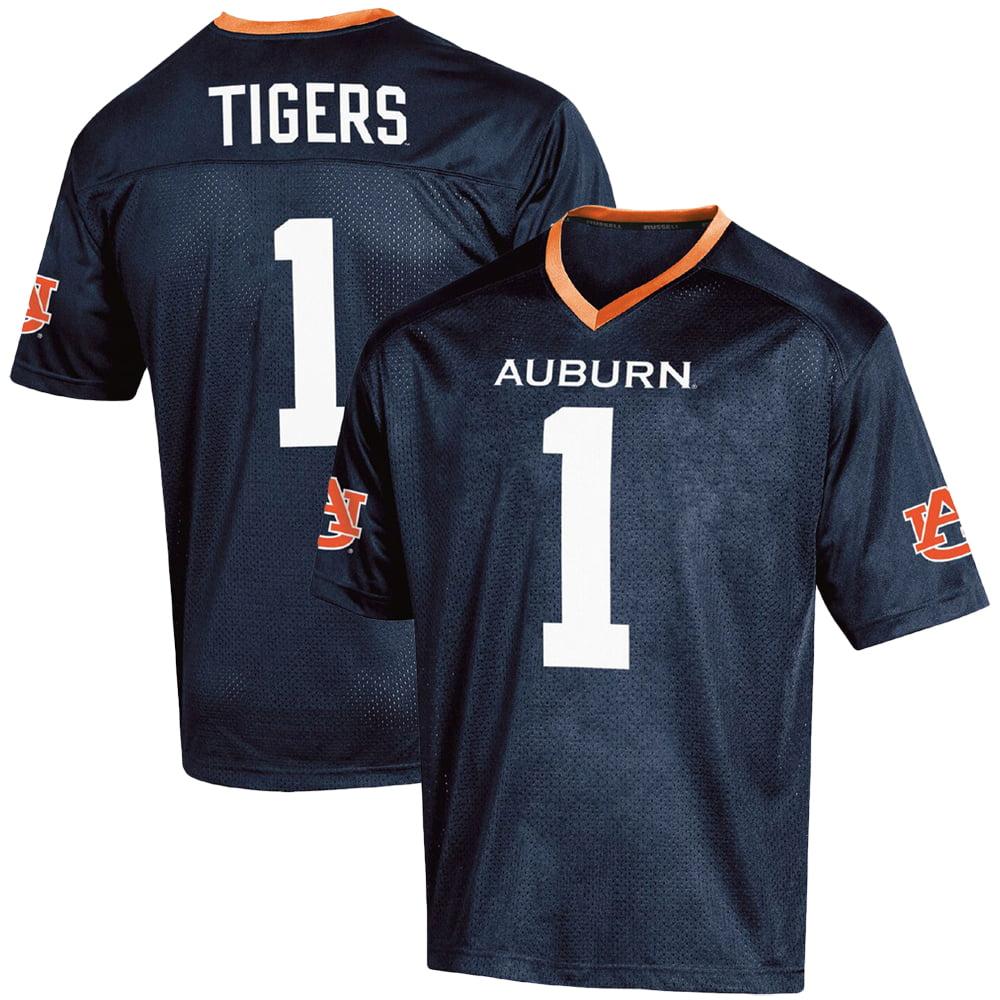 best website c2313 261e7 Men's Russell #1 Navy Auburn Tigers Fashion Football Jersey