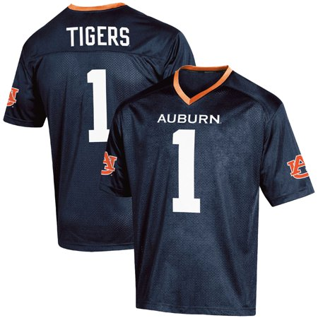 Men's Russell #1 Navy Auburn Tigers Fashion Football Jersey