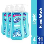 (Pack of 4) Dial Antibacterial Liquid Hand Soap, Spring Water, 11 Ounce