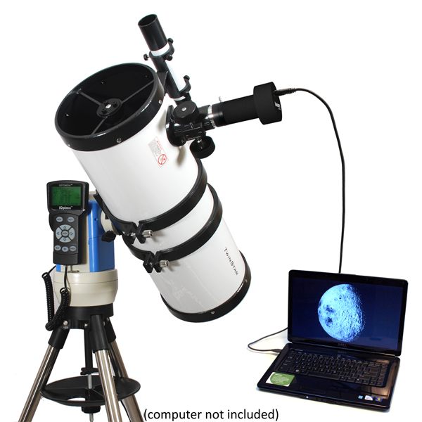 """Twinstar 6"""" Computerized Reflector Telescope with Camera, White by Twinstar"""