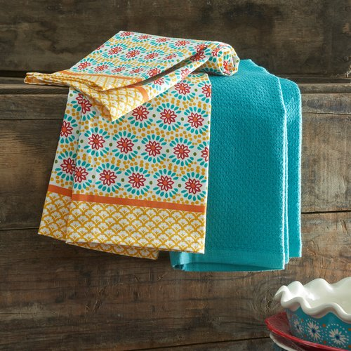 The Pioneer Woman Daisy Chain Kitchen Towels, Set of 4