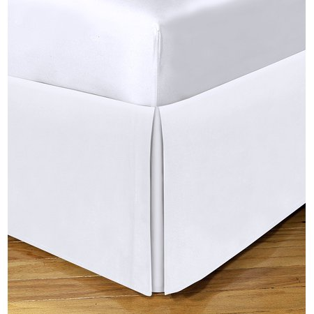 Brand New  Today S Home Microfiber Bed Skirt Dust Ruffle Classic Tailored Styling 14  Drop King  White  High Quality