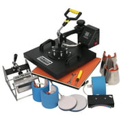 Zimtown 15 x 15 Inch 8-in-1 Digital Heat Press Transfer Sublimation Machine, for Hat Mug Plate Cap T-Shirt