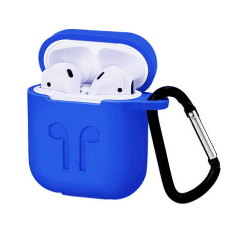 JOYFEEL Sapphire Airpods Silicone Case Waterproof Silicone Case for Airpods Protective Sleeve for Airpods Silicone Wireless Earphone Case Cover