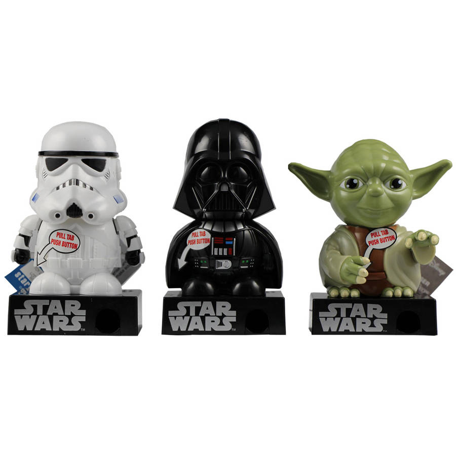 Star Wars Candy Pieces Dispenser with Sound, 0.3 oz, Pack of 6