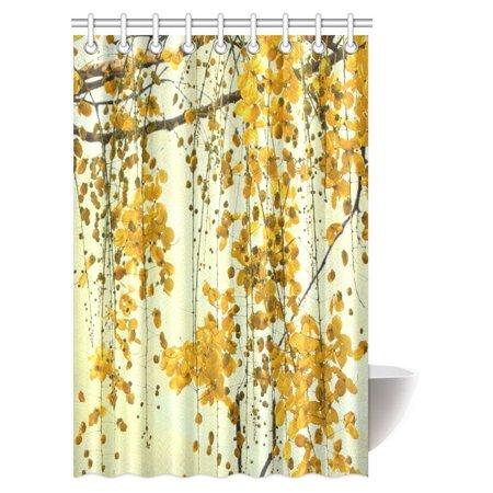 MYPOP Thailand Native Brilliant Yellow Flowers Shower Curtain ...