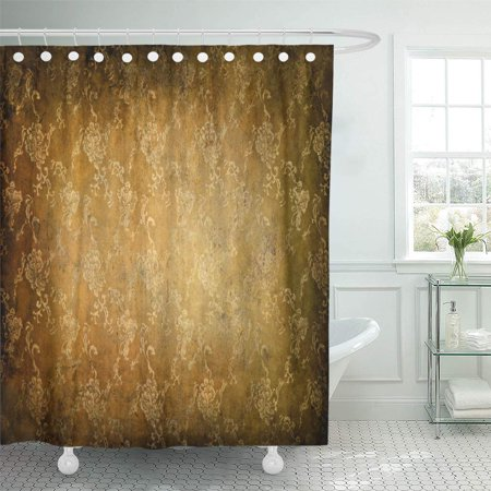 SUTTOM Old Brown Vintage Classical Pattern Orange Golden Abstract Aged Shower Curtain 60x72 inch - image 1 of 1