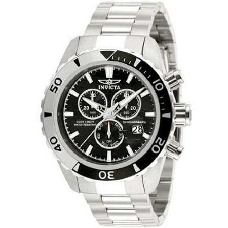 12443 Pro Diver- SS Chrono ISA - With Sea Hunter Logo Dial SS Black