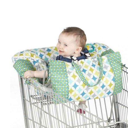 Printed Baby Child Supermarket Trolley Dining Chair Protection Antibacterial Safety Travel Cushion Portable Shopping Cart Cushion - image 5 de 9