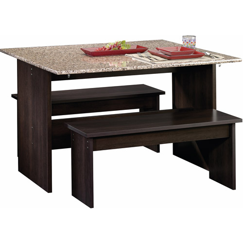 Sauder Beginnings Trestle Dining Table with Benches Multiple