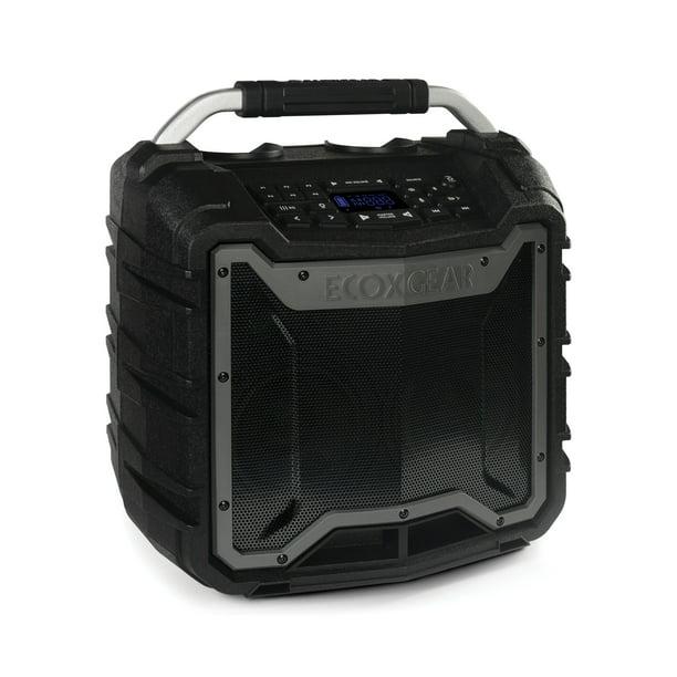 "EcoXGear EcoTrek 8.8"" x 8.8"" x 8.8"" Waterproof, Shockproof, Fully  Submersible, 80 W Bluetooth EcoTrek Speaker"