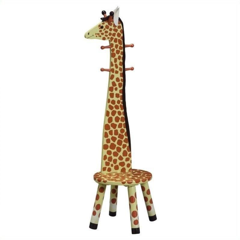 Teamson Kids- Safari Stool w Coat Rack Giraffe by Teamson