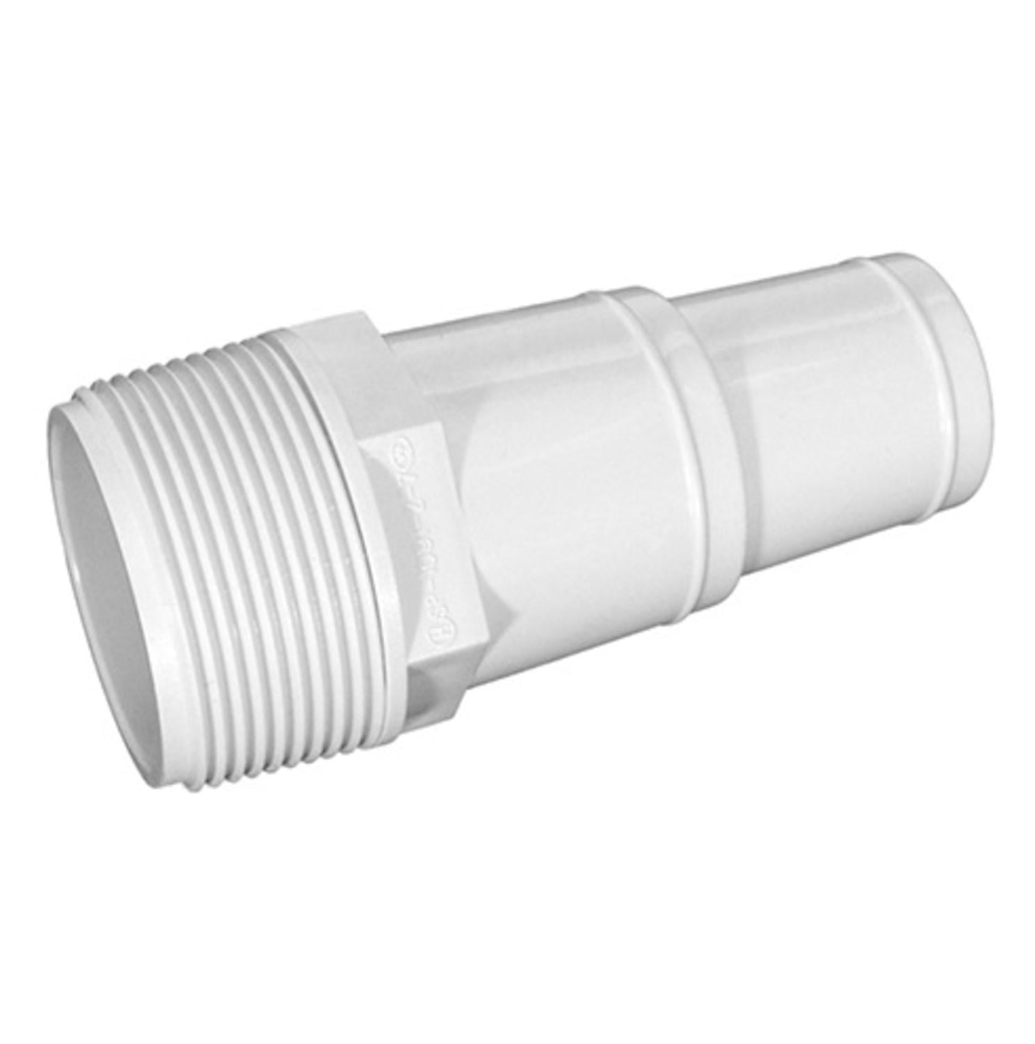 "4"" White Swimming Pool or Spa Threaded Hose Adapter by Northlight"