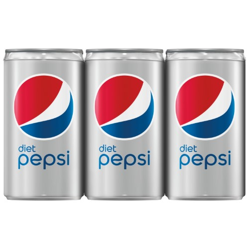 Diet Pepsi Soda, 7.5 oz Cans, 6 Count
