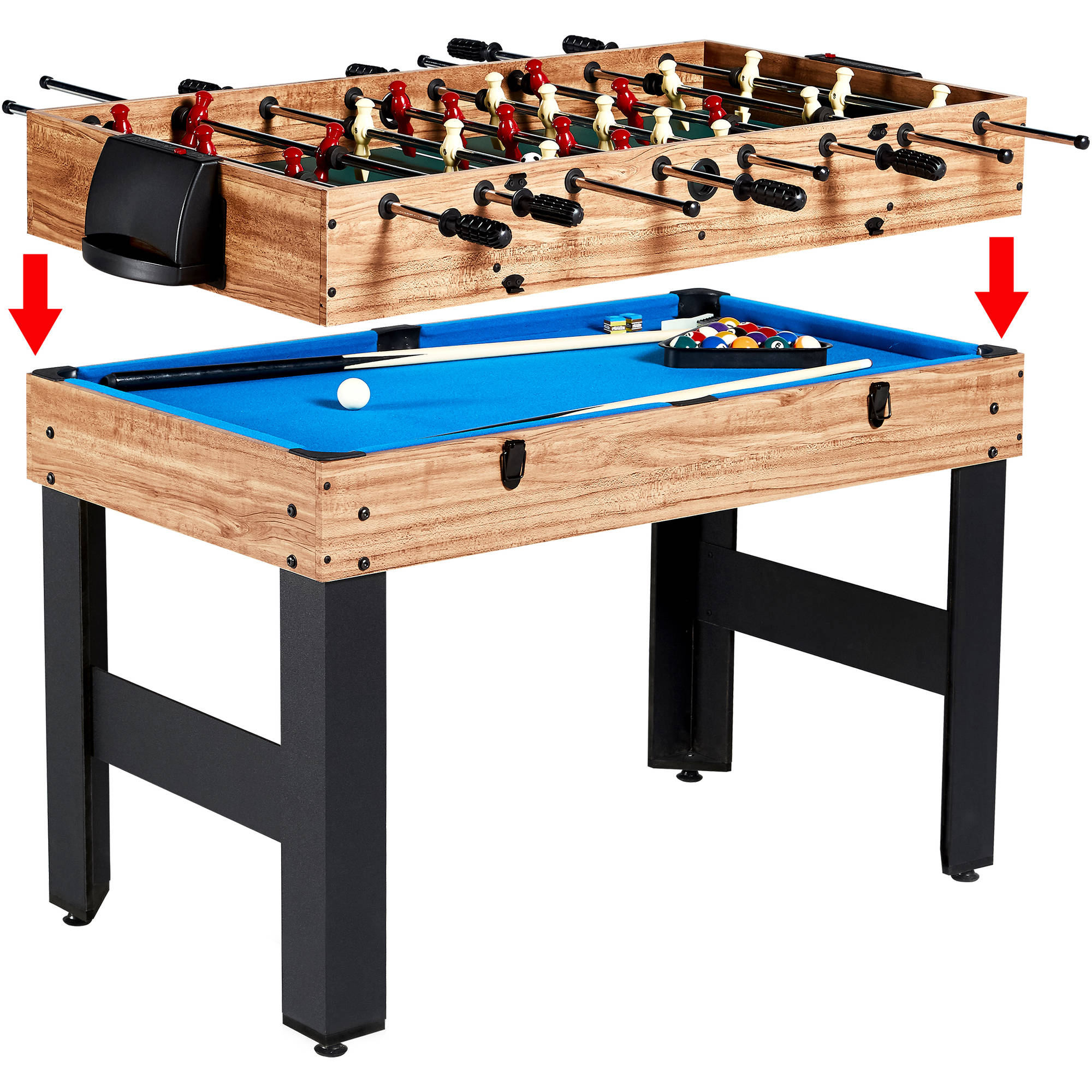 MD Sports 48 Inch 3 In 1 Combo Game Table, 3 Games With Billiards, Hockey  And Foosball   Walmart.com