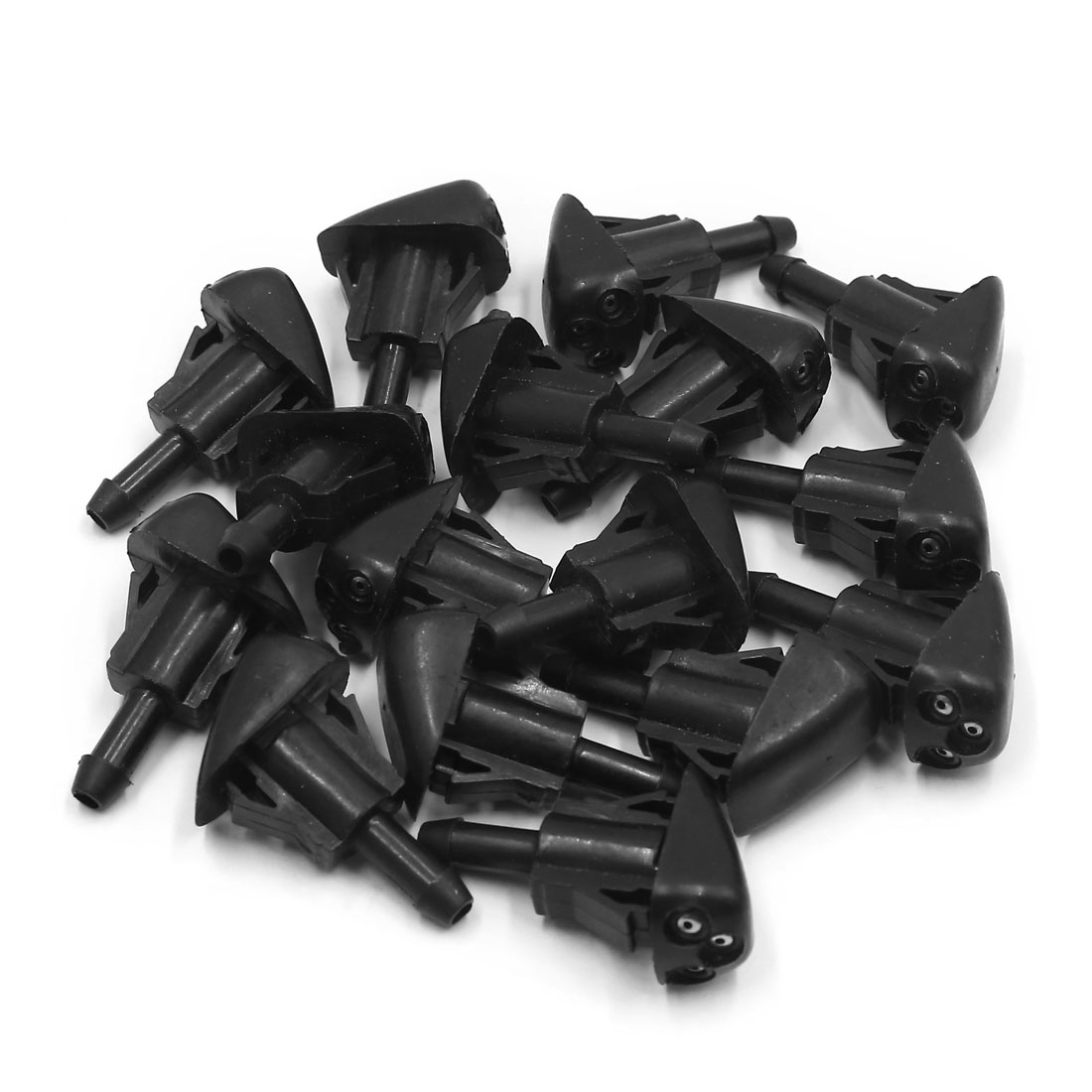 16 Pcs Plastic Windshield Washer Wiper Water Sprayer Nozzle for