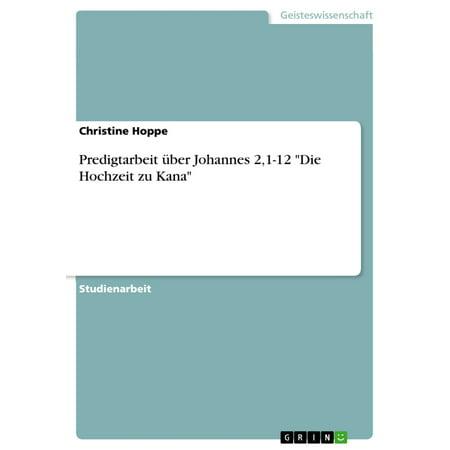 Predigtarbeit über Johannes 2,1-12 'Die Hochzeit zu Kana' - eBook (Bedruckt Hochzeit Sonnenbrille)