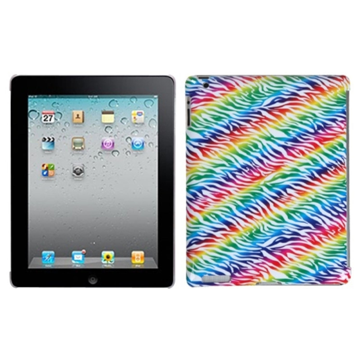 Insten Colorful Zebra Back Case (with Package) for APPLE: iPad 2, The new iPad, iPad 4 (with Retina display)