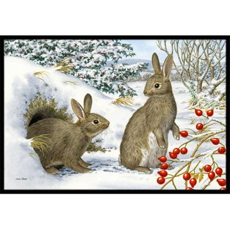 Carolines Treasures ASA2181MAT Winter Rabbits Indoor or Outdoor Mat, 18 x 27 - image 1 de 1