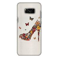 Samsung Galaxy S8 Plus Designer Case, Premium Handcrafted Printed Designer Hard ShockProof Case Back Cover for Samsung Galaxy S8 Plus G955 - Butterfly High Heels