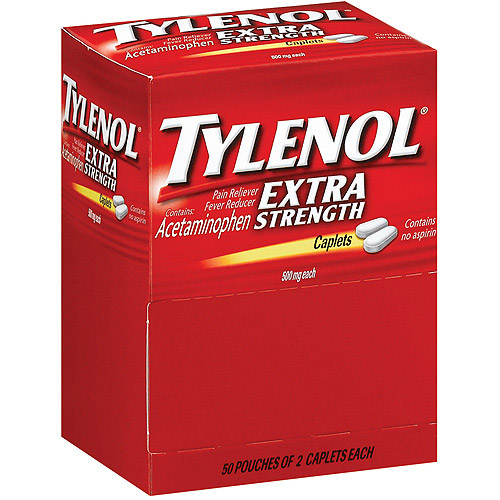 Tylenol Extra Strength Pain Reliever/Fever Reducer Caplets, 500mg, 50 count