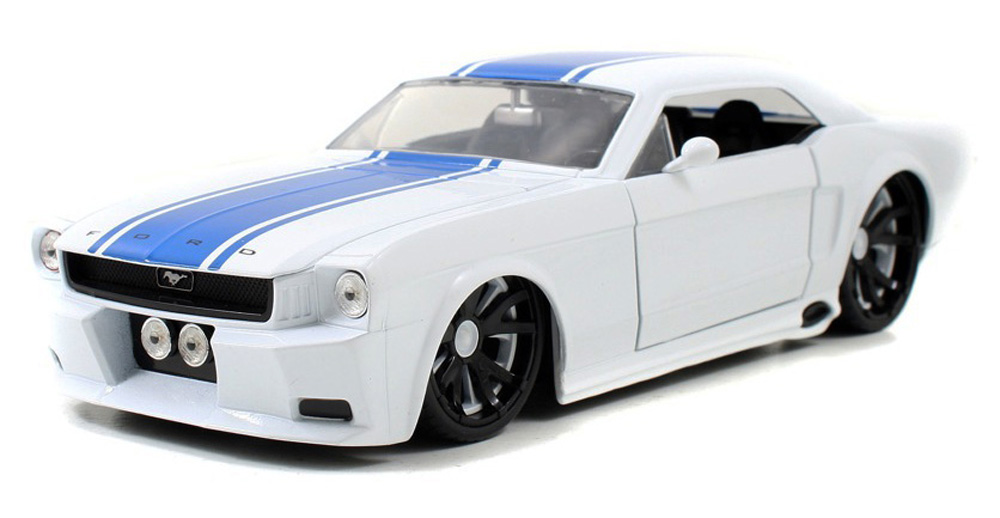 1965 Ford Mustang, White Jada Toys Bigtime Muscle 96895 1 24 scale Diecast Model Toy Car by Jada