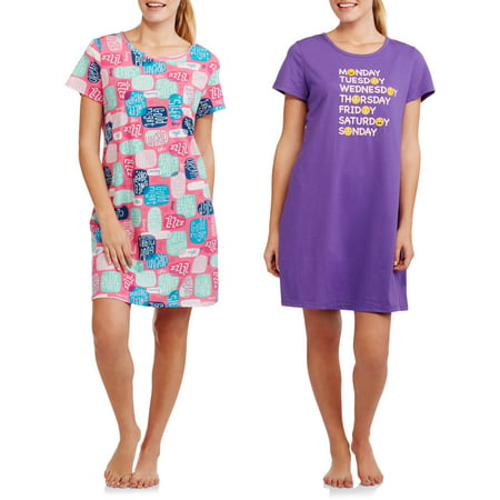 Secret Treasures Women's and Women's Plus Sleep Shirt - 2 PACK