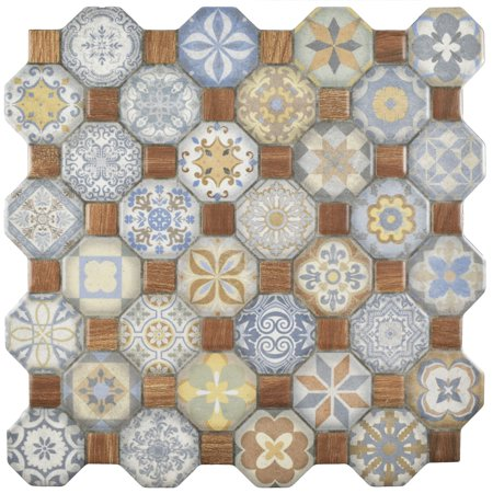 Somertile Xinch Tesseract Multi Ceramic Floor And Wall - 13 inch floor tiles