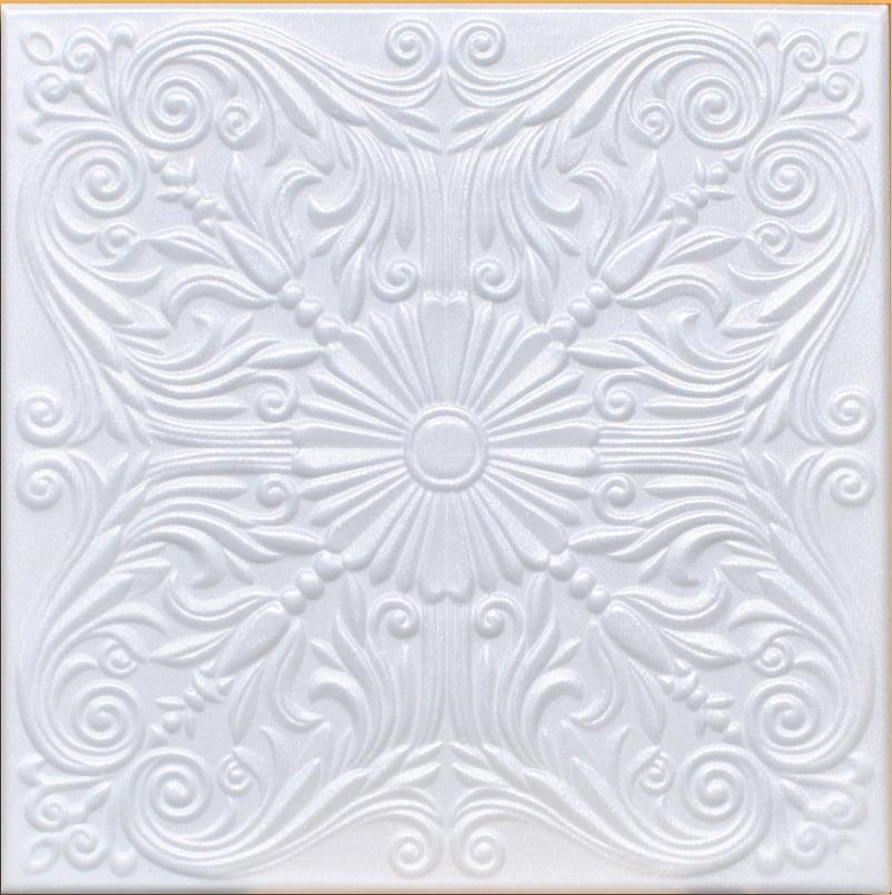 A la Maison Ceilings 818 Bourbon Street Styrofoam Ceiling Tile Package Of 8 Tiles Plain White Decorative Ceiling Tiles Inc.